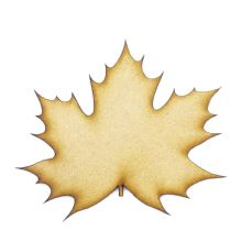 London Plane Leaf cut from 3mm MDF, Craft Blanks, Shapes, Tags, Autumn Leaf